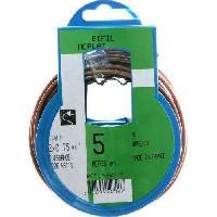 Cable - Fil - Gaine PROFIPLAST Couronne de cable 5 m HO3VHH 2 x 0.75 mm2 Or - Generique