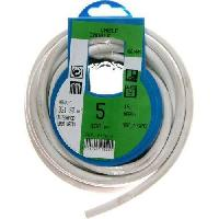 Cable - Fil - Gaine PROFIPLAST Couronne de cable 5 m HO5VVF 3G 1.5 mm2 Blanc