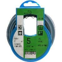 Cable - Fil - Gaine PROFIPLAST Couronne de cable 5 m HO7V-R 6 mm2 Bleu - Generique