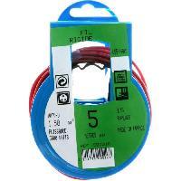 Cable - Fil - Gaine PROFIPLAST Couronne de cable 5 m HO7V-U 1.5 mm2 Rouge - Generique