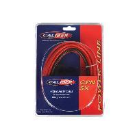 Cable Alimentation Cable alimentation 5mm2 - 5m rouge - 0.8m noir Caliber