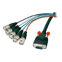 Cable Audio Video Cable VGA HD-15-5BNC M-M. - 1.8m