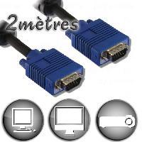Cable Audio Video Câble VGA HD15 Mâle / Mâle - 2m - Lineaire