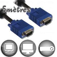 Cable Audio Video Câble VGA HD15 Mâle / Mâle - 5m - Lineaire