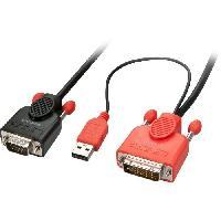 Cable Audio Video LINDY Câble adaptateur DVI-D vers VGA - 5m