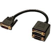 Cable Audio Video LINDY Câble splitter DVI-D - 2 ports