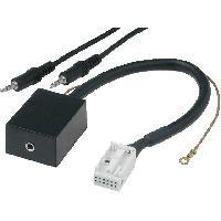 Cable Autoradio, AUX, telecommande Adaptateur Autoradio AUX - Fakra 12PIN Jack 3.5mm compatible avec Audi Seat Skoda VW