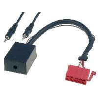 Cable Autoradio, AUX, telecommande Adaptateur Autoradio AUX - ISO 10PIN Jack 3.5mm compatible avec Audi Seat Skoda VW