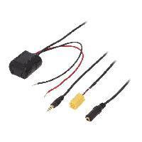 Cable Autoradio, AUX, telecommande Adaptateur Bluetooth compatible avec Alfa Romeo Fiat Lancia Smart