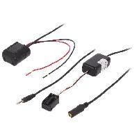 Cable Autoradio, AUX, telecommande Adaptateur Bluetooth compatible avec BMW Serie 3 5 X3 X5