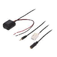 Cable Autoradio, AUX, telecommande Adaptateur Bluetooth compatible avec BMW Serie 3 E90