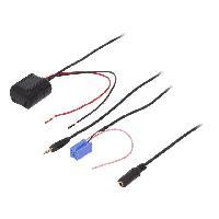 Cable Autoradio, AUX, telecommande Adaptateur Bluetooth compatible avec Chevrolet Mercedes Nissan Renault Volvo DAF Iveco ADNAuto