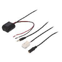 Cable Autoradio, AUX, telecommande Adaptateur Bluetooth compatible avec Citroen Peugeot CAN-Bus