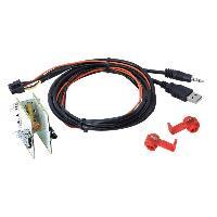 Cable Autoradio, AUX, telecommande Adaptateur de prise USB AUX AD1094B pour Fiat 500L 500X Ducato ADNAuto