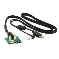 Cable Autoradio, AUX, telecommande Adaptateur de prise USB AUX AD1140B compatible avec Hyundai et Kia