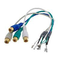 Cable Autoradio, AUX, telecommande Cable Adaptateur AUX 4x RCA Broches nues ADNAuto