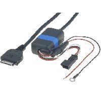 Cable Autoradio, AUX, telecommande Cable Adaptateur AUX iPod iPhone compatible avec BMW 3 5 7 X5 Navigation usine