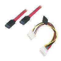 Cable D'alimentation APM Cordon Serial SATA Pour Disques Durs + Cable Alimentation En Y - 0.6m