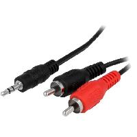 Cable Jack - Rca Cable Jack 3.5mm RCAx2 noir 3m