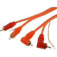Cable RCA Cable 2xRCA Males RCA Coudes Males 5m rouge - ADNAuto