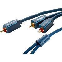 Cable RCA Cable bleu RCA-RCAx2 dore 5m - ADNAuto