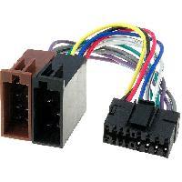 Cable Specifique Autoradio ISO Cable Autoradio JVC avec connecteur 16 pins vers ISO