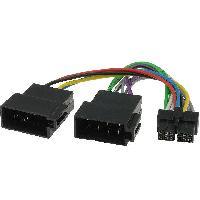 Cable Specifique Autoradio ISO Cable Autoradio LG 12PIN Vers ISO separe - connecteur noir ADNAuto