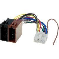 Cable Specifique Autoradio ISO Cable Autoradio Panasonic 16PIN Vers ISO- connecteur blanc