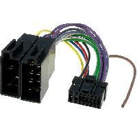 Cable Specifique Autoradio ISO Cable Autoradio Panasonic 16PIN Vers ISO- connecteur noir