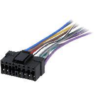 Cable Specifique Autoradio ISO Cable Autoradio Pioneer 16PIN Fils nus - connecteur noir 2 ADNAuto