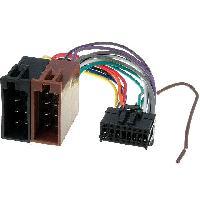 Cable Specifique Autoradio ISO Cable Autoradio Pioneer 16PIN Vers Iso - connecteur noir 1 ADNAuto
