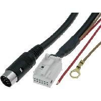 Cable changeur CD Cable Autoradio compatible avec changeur CD DIN 13pin vers Quadlock 12pin 1.8m compatible avec Audi VW