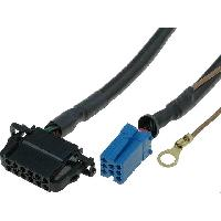 Cable changeur CD Cable Autoradio compatible avec changeur CD ISO mini 8pin vers 12pin compatible avec Audi VW 1.8m