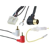 Cable changeur CD Cable Autoradio compatible avec changeur CD Panasonic 5.5m jacks males