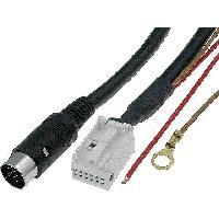 Cable changeur CD Cable Autoradio pour changeur CD DIN 13pin vers Quadlock 12pin 5m Audi VW ADNAuto