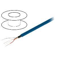 Cable de Haut-Parleurs 100m de Cable de haut parleurs - 1x2x0.22mm2 OFC bleu