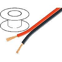 Cable de Haut-Parleurs 100m de Cable haut parleurs 2x0.75mm2 - CCA - Rouge Noir
