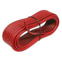 Cable de Haut-Parleurs 10m de Cable de haut-parleur 2x0.75mm2 noirrouge