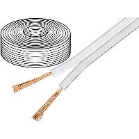 Cable de Haut-Parleurs 10m de Cable de haut parleurs 2x0.75mm2 OFC blanc