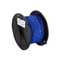 Cable de Haut-Parleurs Cable compatible avec haut-parleur torsade 2x0.75mm2 Bleu noir 100m