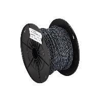 Cable de Haut-Parleurs Cable compatible avec haut-parleur torsade 2x0.75mm2 Gris noir 100m
