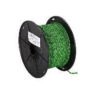 Cable de Haut-Parleurs Cable compatible avec haut-parleur torsade 2x0.75mm2 Vert noir 100m