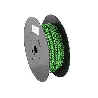 Cable de Haut-Parleurs Cable compatible avec haut-parleur torsade 2x1.50mm2 Vert noir 100m