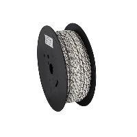 Cable de Haut-Parleurs Cable compatible avec haut-parleur torsade 2x2.50mm2 Blanc noir 100m