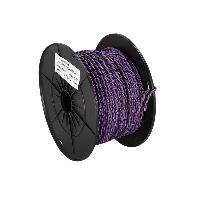 Cable de Haut-Parleurs Cable haut-parleur torsade 2x0.75mm2 Violet noir 100m ADNAuto
