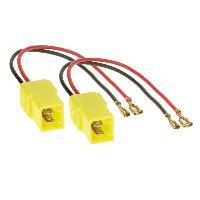 Cables Adaptateurs HP 2 Cables adaptateurs haut-parleur compatible avec Alfa-romeo Citroen Fiat Lancia Peugeot