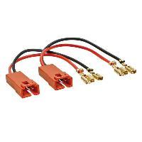 Cables Adaptateurs HP 2 Cables adaptateurs haut-parleur compatible avec Fiat Ducato Multipla Punto 2 Scudo Citroen 99 - Peugeot 307