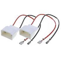 Cables Adaptateurs HP 2 Cables adaptateurs haut-parleur compatible avec Ford C-Max ap03 Fiesta ap09 S-Max ap07