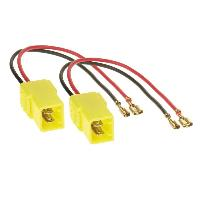 Cables Adaptateurs HP 2 Cables adaptateurs haut-parleur pour Alfa-romeo Citroen Fiat Lancia Peugeot