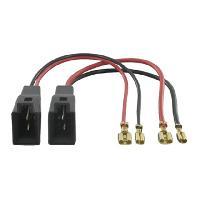 Cables Adaptateurs HP 2 Cables adaptateurs haut-parleur pour Audi Ford Landrover Mercedes Opel Renault Seat Skoda VW Generique